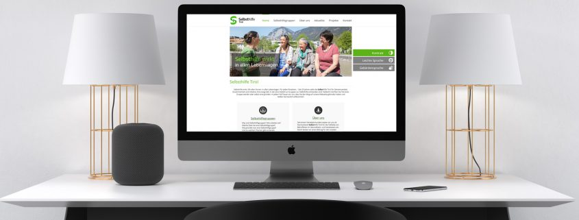 Selbsthilfe Tirol - neue Homepage im Responsiv-Design