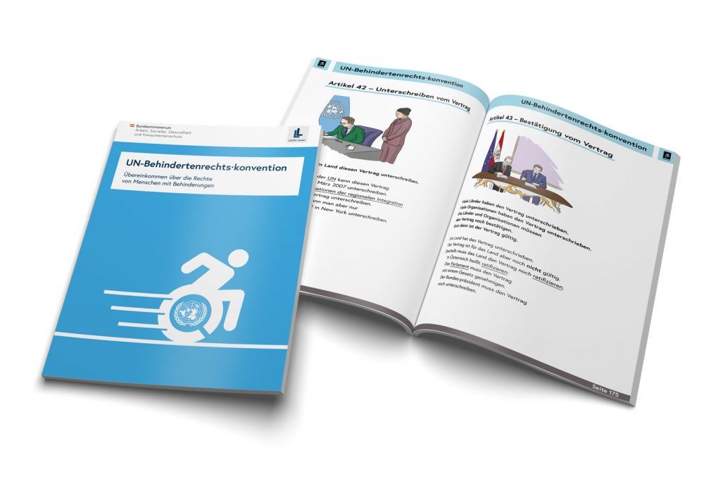 UN- Behindertenrechtskonvention in Leichter Sprache - neue Broschüre des Sozialministeriums
